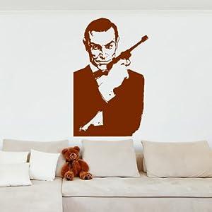 007 James Bond Pegatina de Pared. Arte de Pared Icono disponible en 5 tamaños y 25 colores   Revisión del cliente y la descripción más