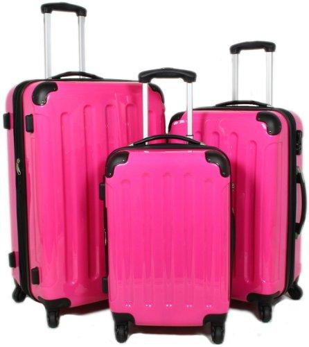 koffer trolley billig beibye pink 3 tlg reisekofferset xl l boardcase koffer kofferset. Black Bedroom Furniture Sets. Home Design Ideas