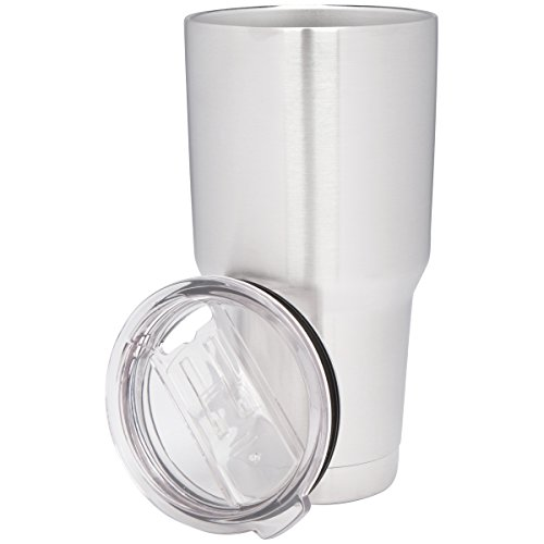30 Oz Stainless Steel Tumbler with Free Splash Proof Lid, Double-Wall and Vacuum Insulated