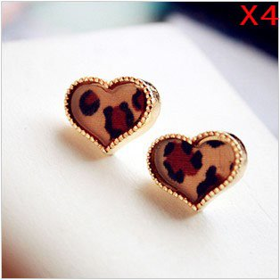 eFuture(TM) 4 Pair(8Pcs) Leopard Print Sweet
