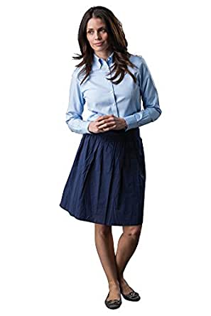 A i s t o n e womens wrinkle free non iron button down for Wrinkle free dress shirts amazon