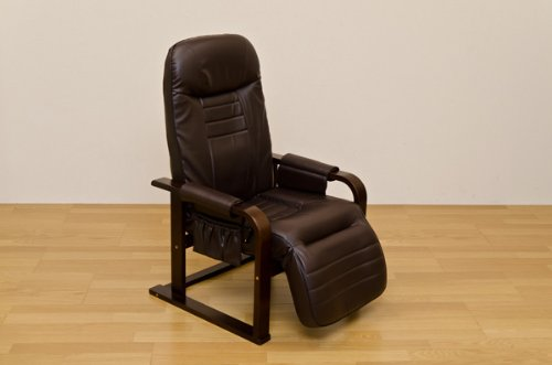 1人掛けソファー チェア 座いす 納得の機能!身体を優しく包み込む!ブラウン