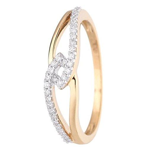 The Diamond Ring 9ct Yellow Gold and Diamonds 0.12ct Diamond-Size-23