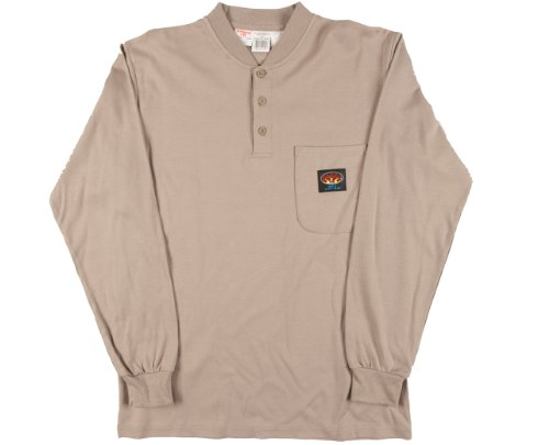 Rasco Fire Retardant T Shirt Khaki 100% Cotton front-1021543