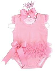 Mud Pie Baby Tiny Dancer Ballerina Crawler Bodysuit, Pink, 0-6 Months