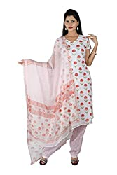Premsons Women's Cotton Floral printed Unstiched Dress Material (Tomato red,PS1297)