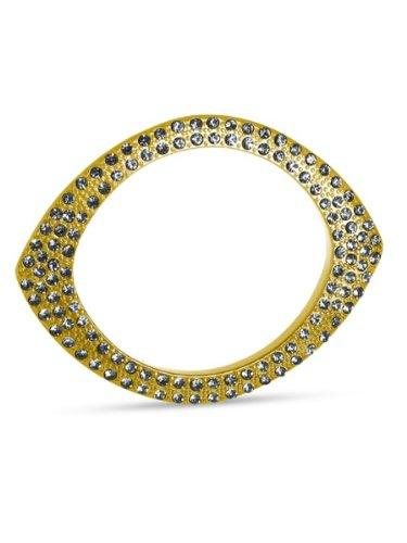 Belle Noel By Kim Kardashian Plated Eye Bangle - Gold