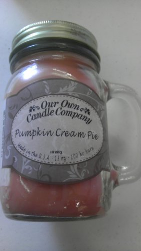 Pumpkin Cream Pie 13 oz Mason Jar Candle (Our Own Candle Co.) Made in USA- 100 hr burn time