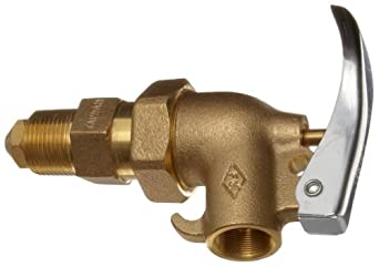 "Justrite 08910 Adjustble Brass Drum safety Faucet, 3/4"" NPT Thread"