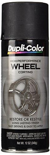 Dupli-Color HWP104 Black High Performance Wheel Paint - 12 oz. (Chrome Wheel Touch Up Paint compare prices)