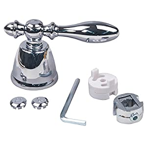brasscraft universal fit tub and shower decorative lever faucet handle chrome. Black Bedroom Furniture Sets. Home Design Ideas