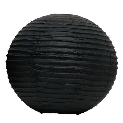 Weddingstar-Round-Paper-Lantern-12-Black