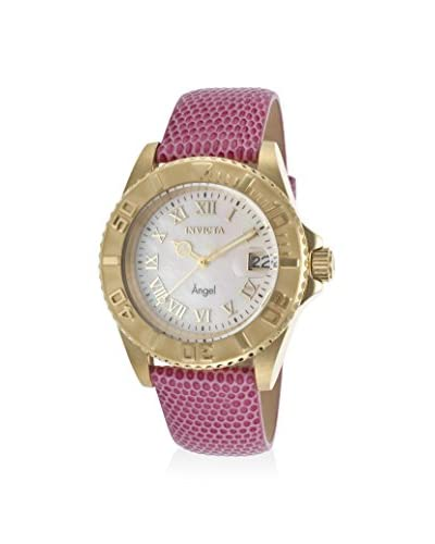 Invicta Women's 18414 Angel Pink/Mother-of-Pearl Leather Watch