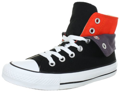 Converse AS Two Fold Hi Can blk/tomato Trainers Unisex-Adult Black Schwarz (black/tomato) Size: 36