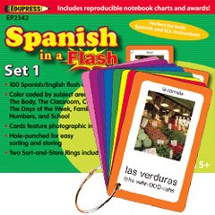 Spanish in a Flash Cards Set 1