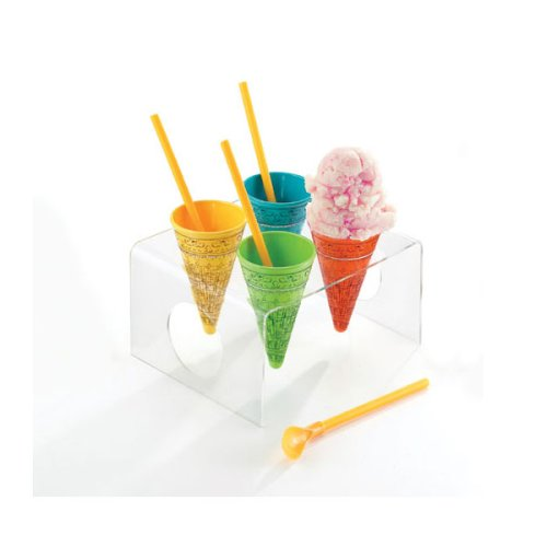 Buy Andy Warhol Ice Cream Cones w/ Tray (set of 4)