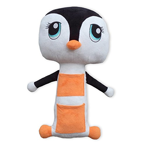Belt Buddies Penguin- Car Seat Toy, Comfortable And Safe Children'S Pillow For The Car. The Ultimate Kids Seat Belt Cover
