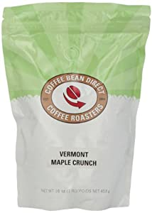 Coffee Bean Direct Vermont Maple Crunch Flavored, Whole Bean Coffee, 16-Ounce Bags (Pack of 3)