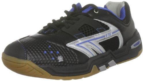 Hi-Tec Sports Men's S702 4:SYS Black/Silver/Cobalt Court Trainer C001482/021/01 7 UK