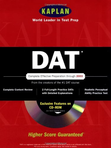 Kaplan DAT with CD-ROM (Dat (Dental Admission Test)(Kaplan))