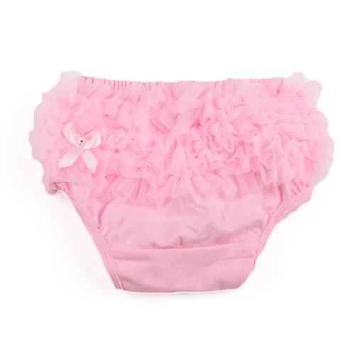 Masione Baby Girl Ruffle Panties Bloomers Diaper Cover (Pink) back-400272