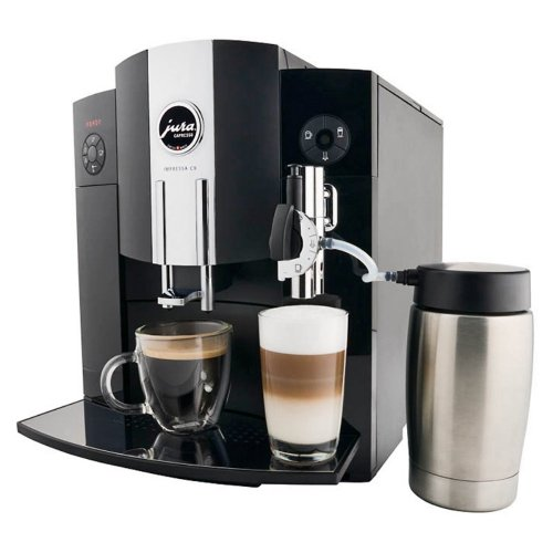 Capresso Jura Capresso Impressa C9 Coffee & Espresso Maker, Piano Black, Stainless Steel Thermal Carafe front-615666