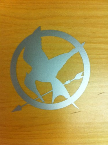 Hunger Games Mocking Jay Sticker Decal Silver
