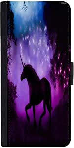 Snoogg Enchanted Unicorn Designer Protective Phone Flip Case Cover For Panasonic P55 Novo