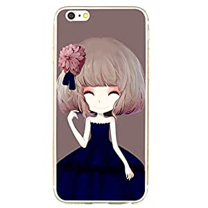 """Dahila Girl AMKE® iPhone 6 Case, 4.7"""" Extreme Thin Protective Case TPU material Soft Silicone For iphone 6 4.7 inch (Dahila)"""