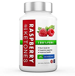 100% Pure Raspberry Ketones - Vegetarian/Vegan - Max Strength 600mg Diet Pills - Powerful Premium Quality Natural Fat Burner - Most Effective - Will Burn Your Fat, Boost Your Metabolism And Suppress Your Appetite - All Natural Lean Weight Loss Appetite Suppressant Supplement For Men And Women - 1200mg 30 Day Supply - 100% Money Back Quality Guarantee