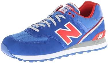 New Balance Men's ML574 Stadium Jacket Running Shoe,Royal/Red,11 D US
