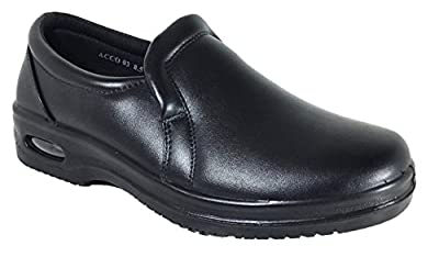 Mens Oil Resistant Anti Slip Restaurant Working Shoes With Air (Acco))