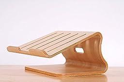 Laptop Wood Stand, Veggzy® Natural Wooden Laptop Cooling Desktop Stand Holder For Laptop Notebook ,Macbook Air,Macbook Pro