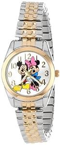 Disney Women's MCK803 Mickey Loves Minnie Two Tone Classic Bracelet Watch