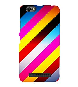 Slant Line Pattern 3D Hard Polycarbonate Designer Back Case Cover for Lenovo A2020