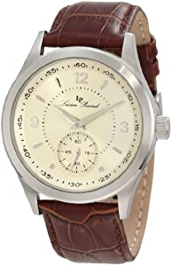Lucien Piccard Men's 11606-020 Grande Casse Champagne Dial Brown Leather Watch