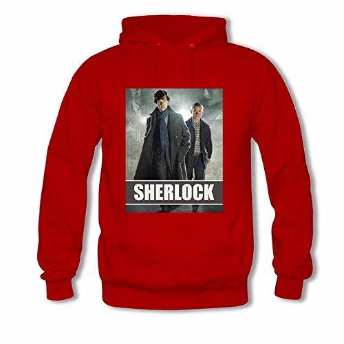Women's Hoodie Sherlock Holmes and Doctor John Watson Sweatshirt M