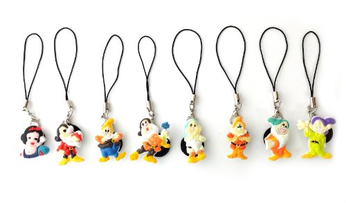 8 Pcs Snow White And The Seven Dwarfs Cellphone Charm Strap String For Iphone Ipod Mp3 Mp4 Cellphone Camera