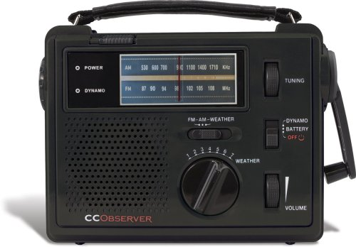 CC Observer wind-up emergency radio (Black)