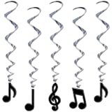 Musical Note Whirls Party Accessory (1 count) (5/Pkg)