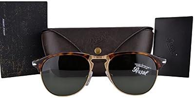 Persol Sunglasses PO8649S Havana w/Green Lens 2431 PO8649