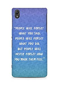 AMEZ people will forget what you said did Back Cover For Sony Xperia Z2