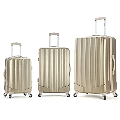 Rockland Golden 3-Piece Luggage Set