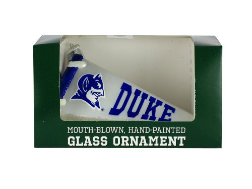 NCAA Duke Blue Devils Glass Pennant Ornament at Amazon.com