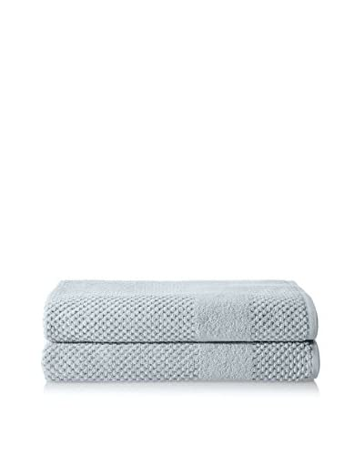 Chortex Set of 2 Honeycomb Bath Sheets, Duck Egg