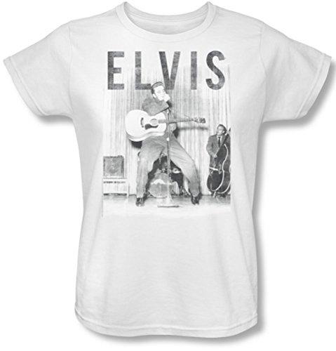 Elvis Presley - - Donne con il nastro-T-Shirt, Bianco