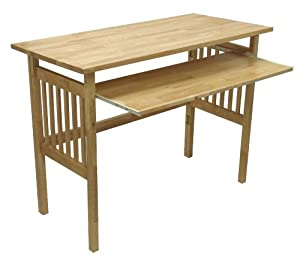 Amazoncom Winsome Wood Foldable Desk Natural Kitchen