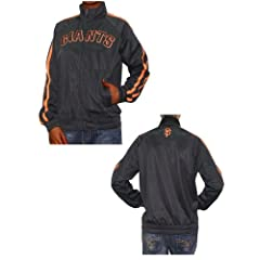 Ladies MLB San Francisco Giants Zip-Up Track Jacket with Embroidered Logo by MLB