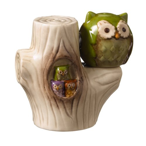 Grasslands Road Owl In Tree Magnetic Salt And Pepper Shaker Set, 3-Inch