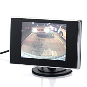 3.5 Inch Small TFT LCD Adjustable Monitor For Security CCTV Camera and car DVR with AV RCA video sound input